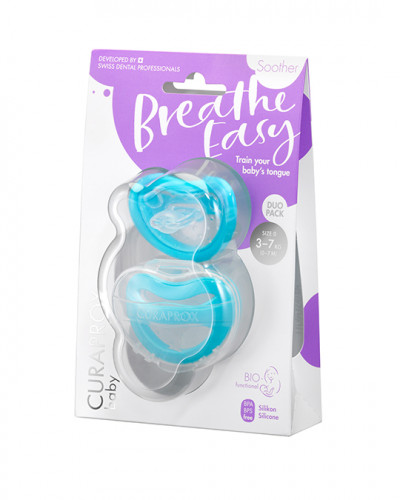Soother light blue (3-7 kg) duopack