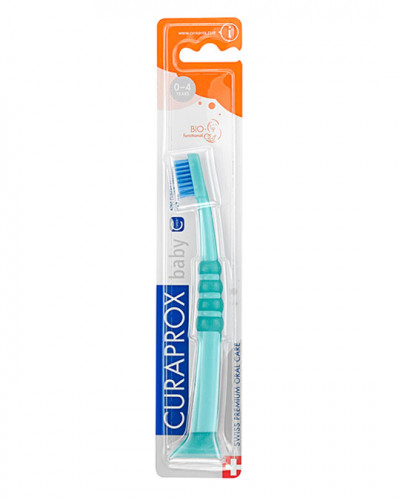 Baby Toothbrush, green-blue